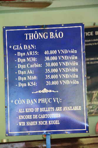 Munitionsverkauf in Vietnam
